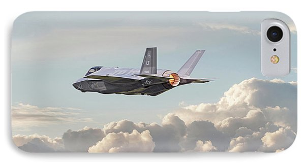 IPhone Case featuring the photograph F35 -  Into The Future by Pat Speirs