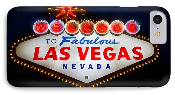 Fabulous Las Vegas Sign Phone Case by Steve Gadomski