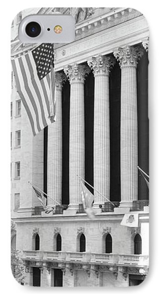 Facade Of New York Stock Exchange, Manhattan, New York City, New York State, Usa IPhone Case