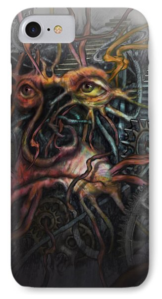 Face Machine Phone Case by Frank Robert Dixon