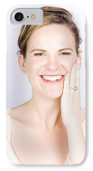 Face Of A Smiling Bride With Perfect Makeup Phone Case by Jorgo Photography - Wall Art Gallery