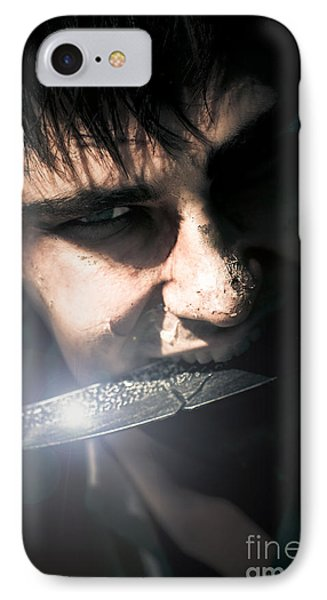 Face Of Fear And Danger IPhone Case by Jorgo Photography - Wall Art Gallery