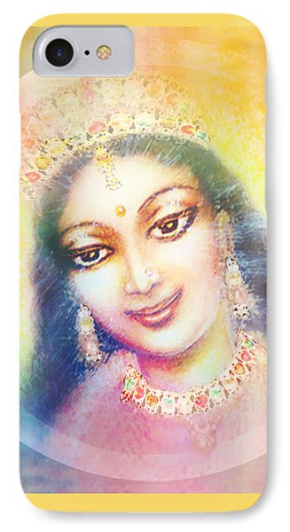 Face Of The Goddess - Lalitha Devi - Rainbow Colors Phone Case by Ananda Vdovic