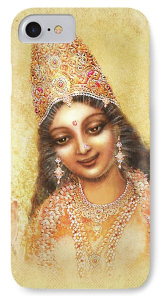 Face Of The Goddess - Lalitha Devi - Without Frame Phone Case by Ananda Vdovic