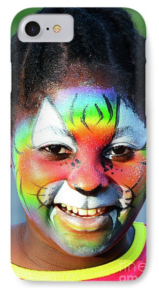 Face Painting 1 IPhone Case by Bob Christopher