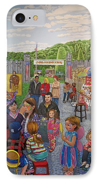 Face Painting At The Long Island Fair IPhone Case by Bonnie Siracusa