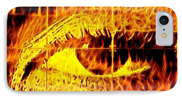 iPhone 7 Case - Face The Fire by Gina Callaghan