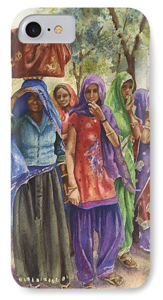 IPhone Case featuring the painting Faces From Across The World by Anne Gifford