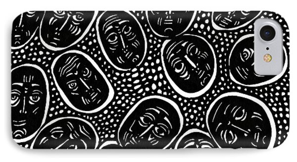 Faces In Stone Phone Case by Sarah Loft