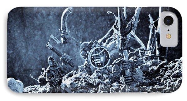 Facing The Enemy II Phone Case by Marc Garrido