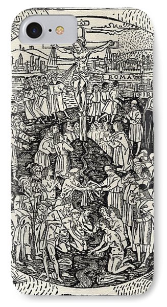 Facsimile Of The Crucifixion From IPhone Case