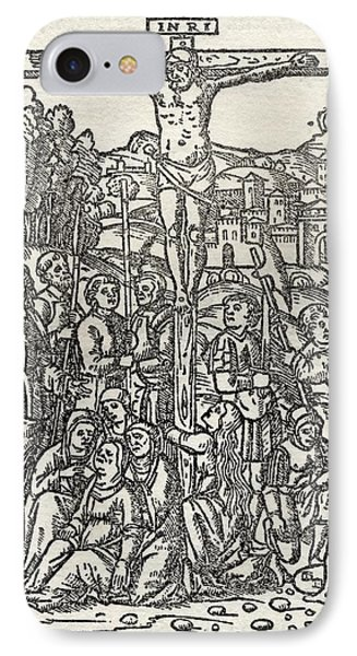 Facsimile Of The Crucifixion Used As IPhone Case