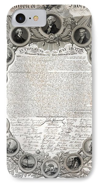 Facsimile Of The Original Draft Of The Declaration Of Independence 1776 IPhone Case