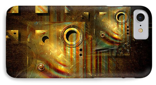 IPhone Case featuring the digital art Factory Atmosphere by Alexa Szlavics