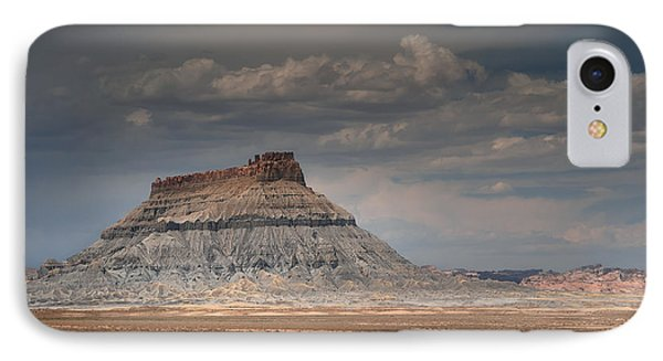 IPhone Case featuring the photograph Factory Butte by Dan Mihai