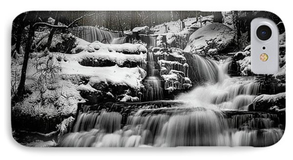 IPhone Case featuring the photograph Factory Falls In Winter by Chris Lord