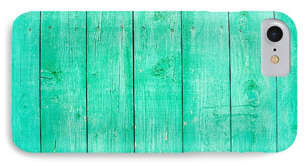 Fading Aqua Paint On Wood IPhone Case by John Williams