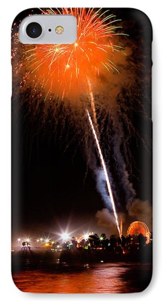 Fireworks As Seen From The Ventura California Pier IPhone Case