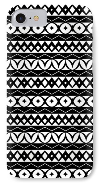 Fair Isle Black And White IPhone Case by Rachel Follett