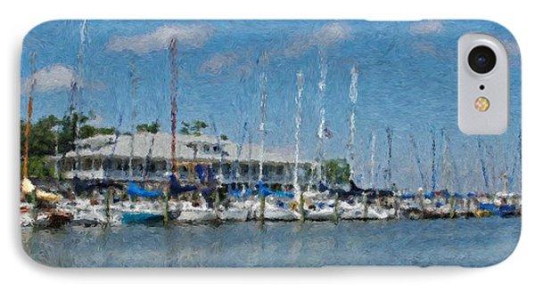 Fairhope Yacht Club Impression IPhone Case by Michael Thomas