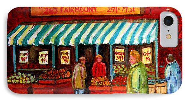 Fairmount Fruit And Vegetables Phone Case by Carole Spandau