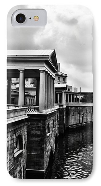 Fairmount Water Works In Black And White Phone Case by Bill Cannon
