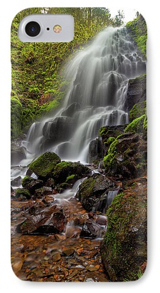 Fairy Falls In Columbia Gorge Phone Case by David Gn
