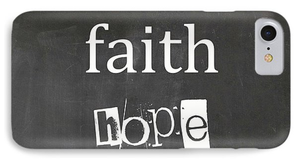 Faith, Hope And Love IPhone Case by Suzanne Carter