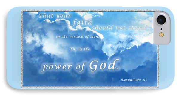 Faith In God's Power IPhone Case