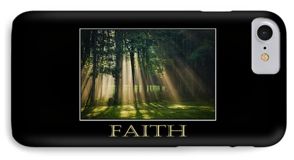 Faith Inspirational Motivational Poster Art Phone Case by Christina Rollo