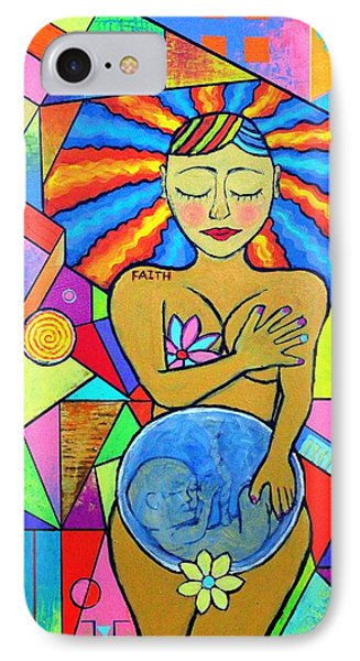Faith, She Carries The World On Her Hips IPhone Case by Jeremy Aiyadurai
