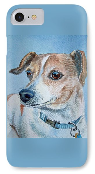 Beloved Dog Commission By Irina Sztukowski  IPhone Case by Irina Sztukowski