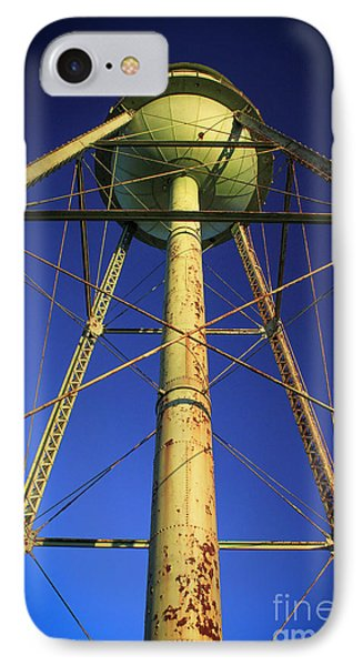 IPhone Case featuring the photograph Faithful Mary Leila Cotton Mill Water Tower Art by Reid Callaway