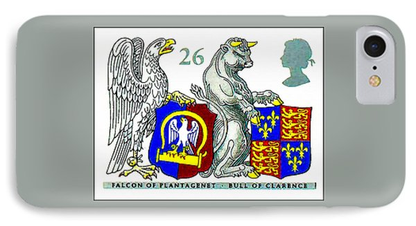 Falcon Of Plantagenet And Bull Of Clarence IPhone Case by Lanjee Chee