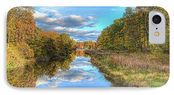 Fall At Brunswick Lake  IPhone Case by Brent Durken