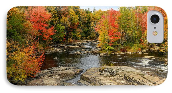Fall At Little Androscoggin IPhone Case by Laurie Breton