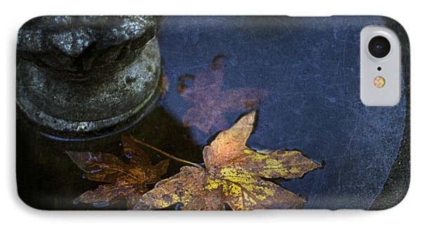 Fall At The Fountain IPhone Case by Rebecca Cozart