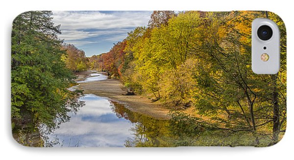 Fall At Turkey Run State Park IPhone Case by Alan Toepfer