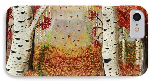 Fall Birch Trees IPhone Case