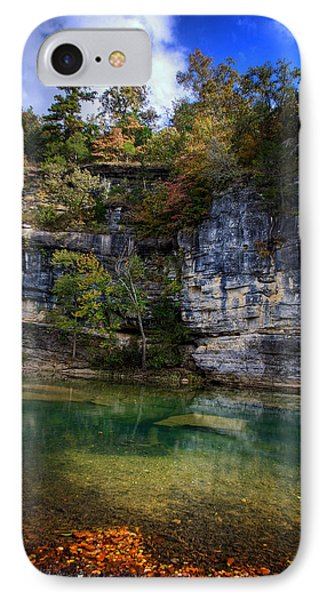 IPhone Case featuring the photograph Fall Bluff At Ozark Campground by Michael Dougherty