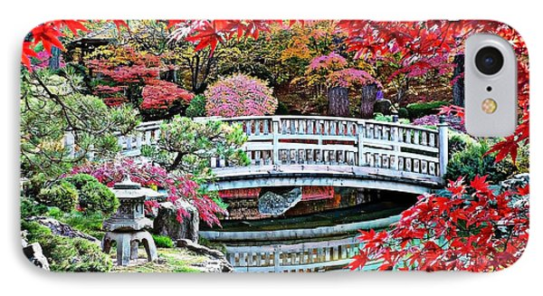 Fall Bridge In Manito Park Phone Case by Carol Groenen