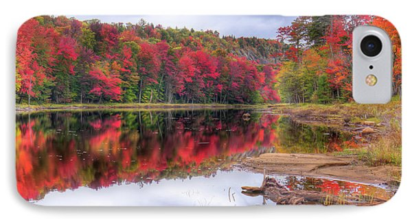 IPhone 7 Case featuring the photograph Fall Color At The Pond by David Patterson