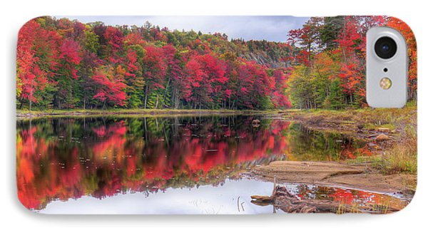 IPhone Case featuring the photograph Fall Color At The Pond by David Patterson