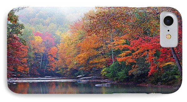 Fall Color Williams River Mirror Image Phone Case by Thomas R Fletcher