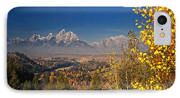 Fall Colors At The Snake River Overlook IPhone Case by Sam Antonio Photography