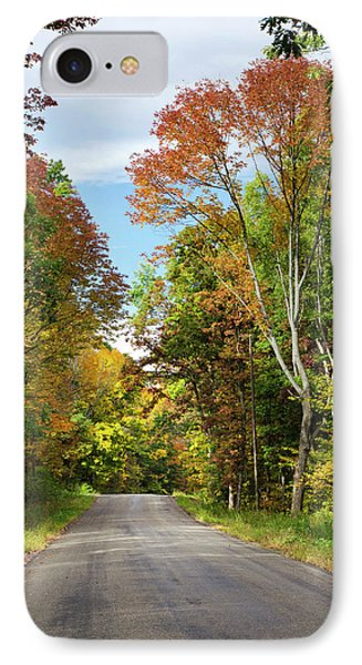 Fall Colors On Country Road IPhone Case