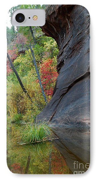 Fall Colors Peek Around Mountain Vertical IPhone Case