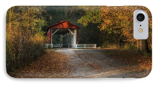 IPhone Case featuring the photograph Fall Covered Bridge by Dale Kincaid