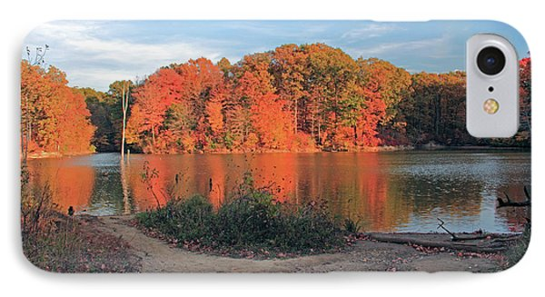 Fall Day At The Creek IPhone Case by Angela Murdocks
