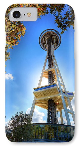 Fall Day At The Space Needle IPhone Case by David Patterson